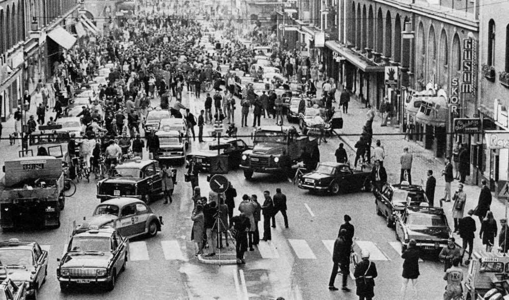 Швеция. Переход на правосторонне движение. 1967 год