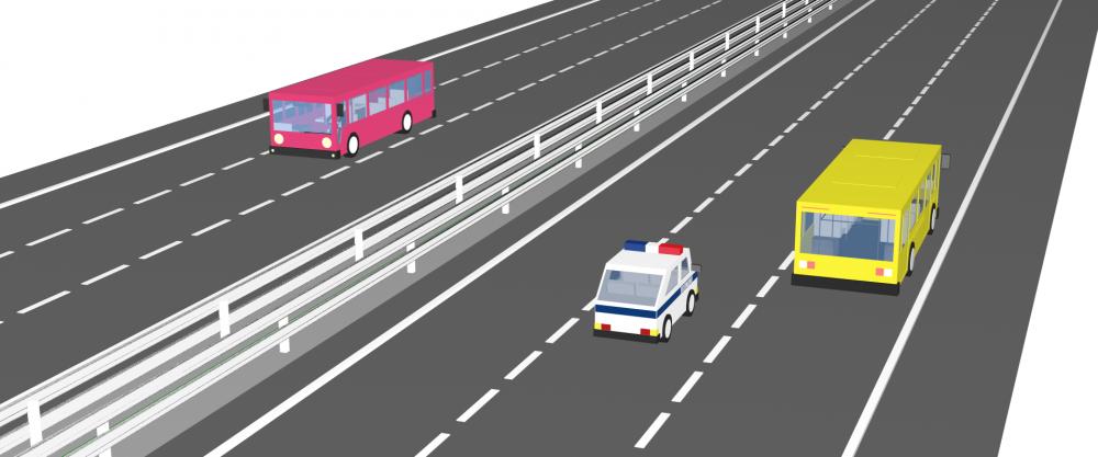 Автомагистраль трехполосная